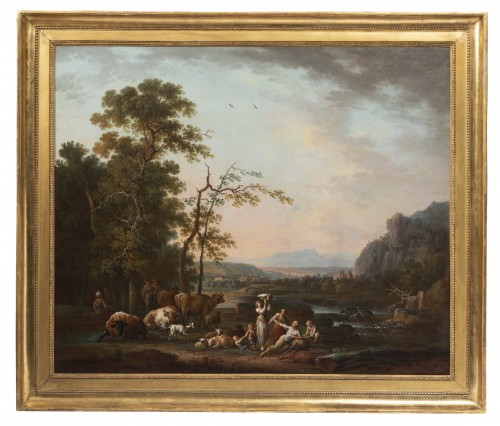Shepherd's landscape - CLAUDOT de Nancy 18th century
