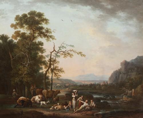 Shepherd's landscape - CLAUDOT de Nancy 18th century - Paintings & Drawings Style Louis XVI