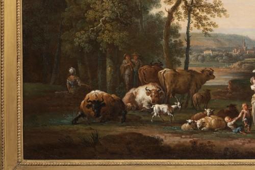 Paintings & Drawings  - Shepherd's landscape - CLAUDOT de Nancy 18th century