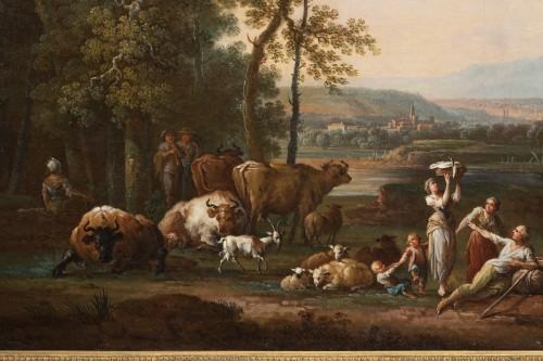 Shepherd's landscape - CLAUDOT de Nancy 18th century -