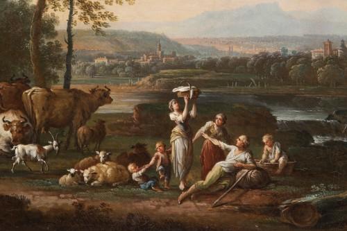 18th century - Shepherd's landscape - CLAUDOT de Nancy 18th century
