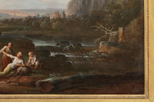 Shepherd's landscape - CLAUDOT de Nancy 18th century - Louis XVI