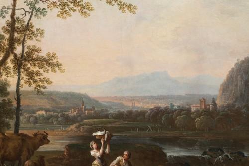 Louis XVI - Shepherd's landscape - CLAUDOT de Nancy 18th century