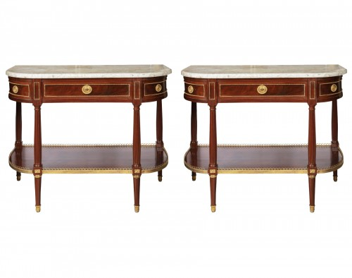 Mahogany sideboard brackets pair Louis XVI period 18th century