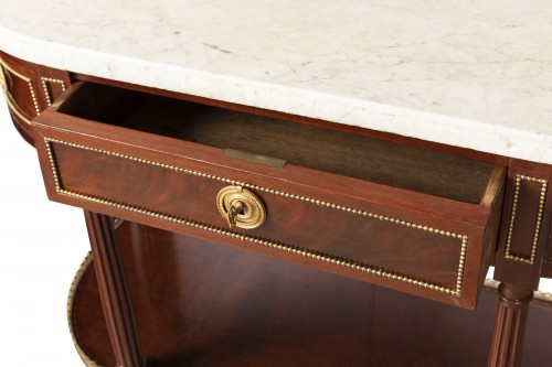Mahogany sideboard brackets pair Louis XVI period 18th century -