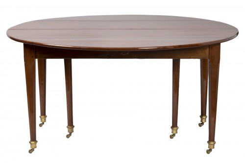 Big six feet mahogany table Louis XVI period  18th
