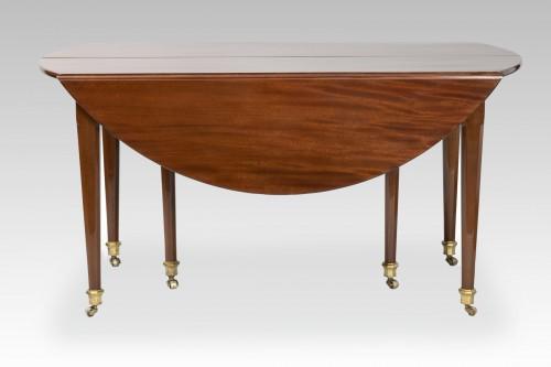 Big six feet mahogany table Louis XVI period  18th - Furniture Style Louis XVI