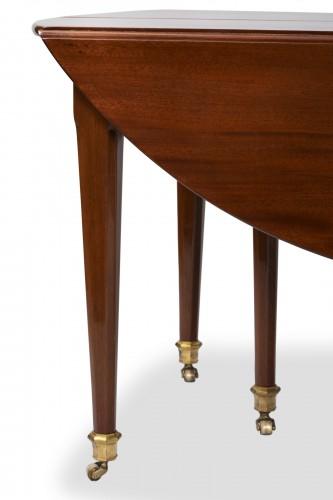 Furniture  - Big six feet mahogany table Louis XVI period  18th