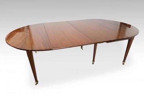 Big six feet mahogany table Louis XVI period  18th - Louis XVI