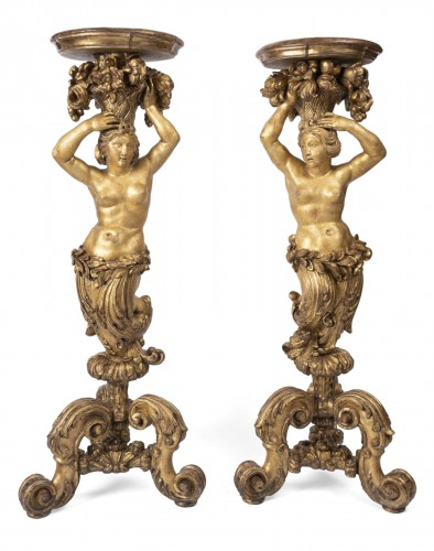 Porte-torchere pair Louis XVI period early 18th