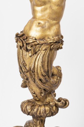 Antiquités - Porte-torchere pair Louis XVI period early 18th