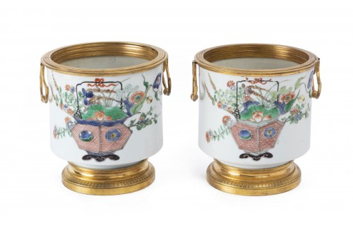 Cooling buckets porcelain pair Kangxi period