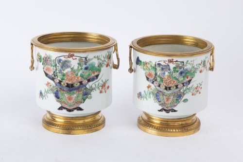 Porcelain & Faience  - Cooling buckets porcelain pair Kangxi period