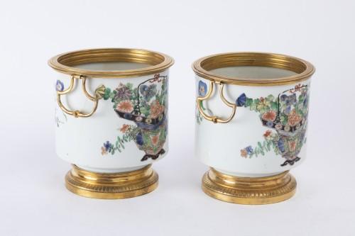 Cooling buckets porcelain pair Kangxi period -