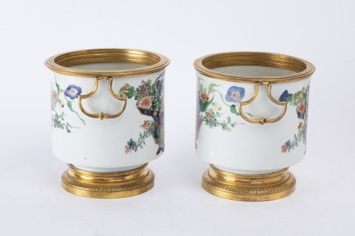 18th century - Cooling buckets porcelain pair Kangxi period