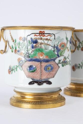 Cooling buckets porcelain pair Kangxi period - Louis XIV