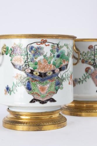 Antiquités - Cooling buckets porcelain pair Kangxi period