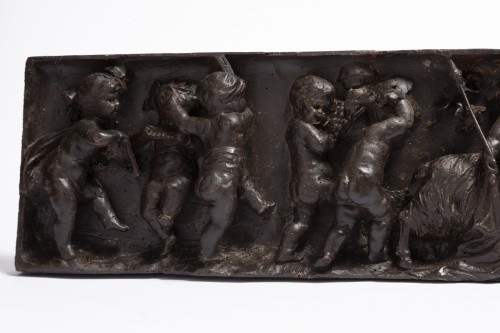Sculpture  - Carved wood panels pair late 18th
