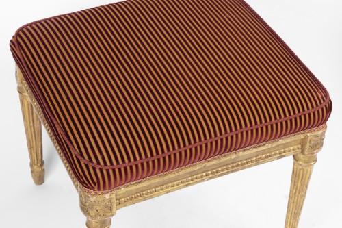 Seating  - Pair of gilded wood stamped jacob Louis XVI period