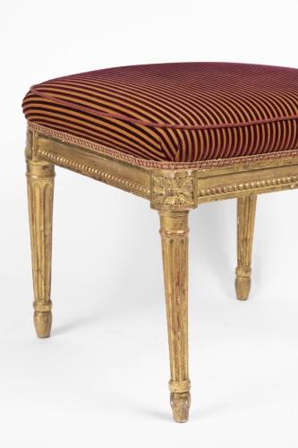 Pair of gilded wood stamped jacob Louis XVI period -