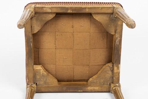 Antiquités - Pair of gilded wood stamped jacob Louis XVI period