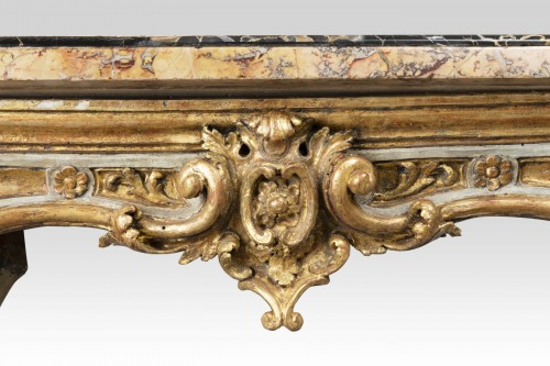 Furniture  - Painted and gilded wood consoles pair Venice 18th