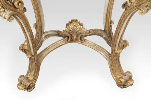 Painted and gilded wood consoles pair Venice 18th - Louis XV