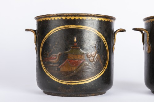 Decorative Objects  - Painted sheet cooling buckets pair mid 18th