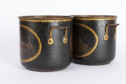 18th century - Painted sheet cooling buckets pair mid 18th