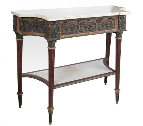 Painted wood etruscan console Directoire period late 18th