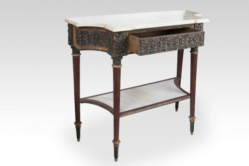 Painted wood etruscan console Directoire period late 18th - Furniture Style Directoire