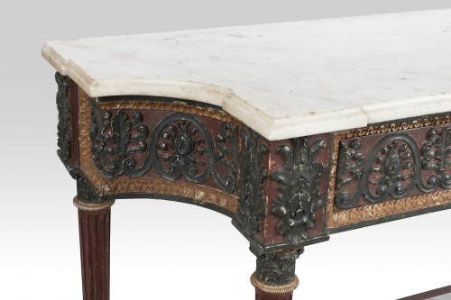 Painted wood etruscan console Directoire period late 18th -