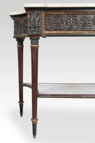18th century - Painted wood etruscan console Directoire period late 18th