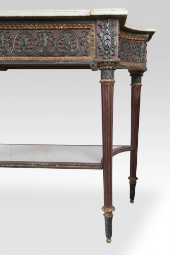 Painted wood etruscan console Directoire period late 18th - Directoire