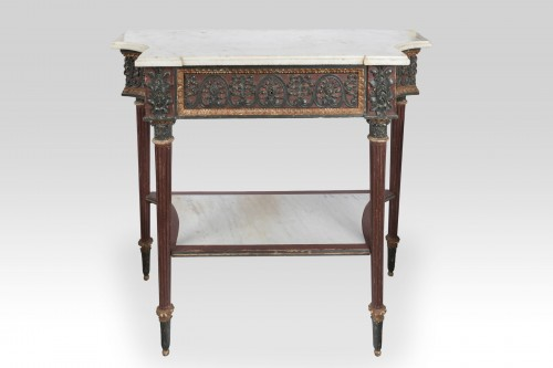 Directoire - Painted wood etruscan console Directoire period late 18th
