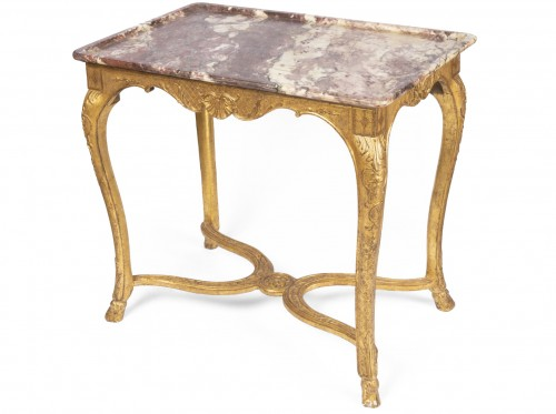 "Gilded wood ""cabaret"" table Regence period 18th"