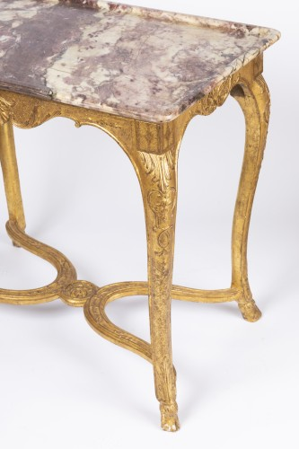 "Gilded wood ""cabaret"" table Regence period 18th - Furniture Style French Regence"