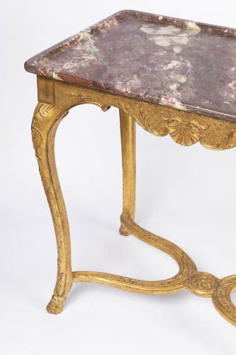 "Furniture  - Gilded wood ""cabaret"" table Regence period 18th"