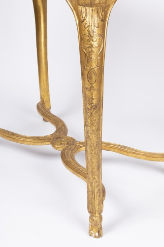 "Gilded wood ""cabaret"" table Regence period 18th - French Regence"
