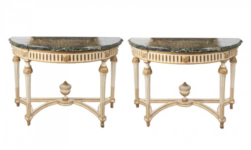Big consoles pair Louis XVI period late 18th