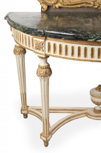 Big consoles pair Louis XVI period late 18th - Furniture Style Louis XVI
