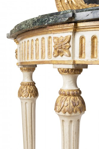 Big consoles pair Louis XVI period late 18th -