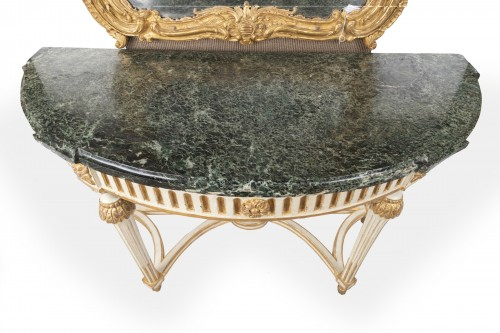 18th century - Big consoles pair Louis XVI period late 18th