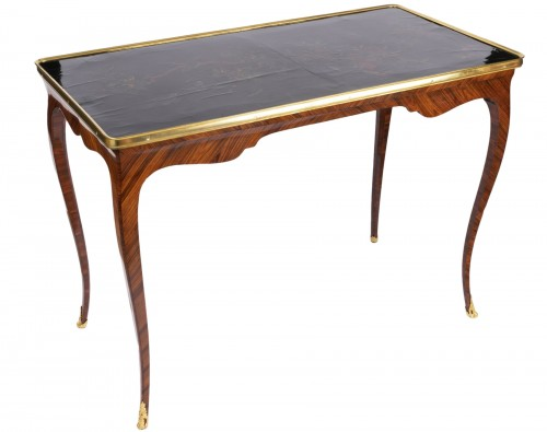Chinese lacquered table top Louis XV period