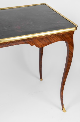 Chinese lacquered table top Louis XV period - Furniture Style Louis XV