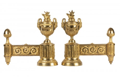Pair of Louis XVI Andirons 18th