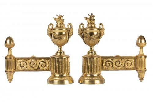 Pair of Louis XVI Andirons