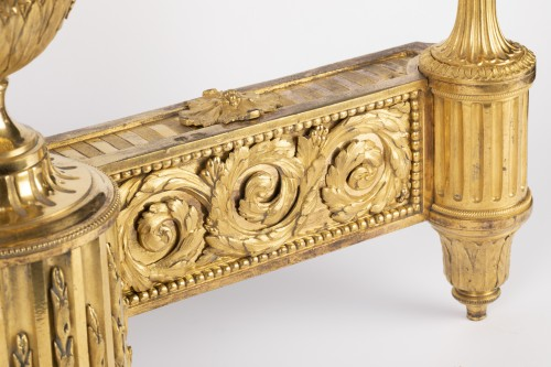 Decorative Objects  - Pair of Louis XVI Andirons 18th