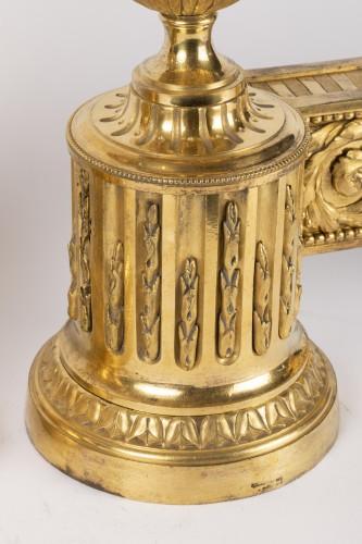 Antiquités - Pair of Louis XVI Andirons 18th