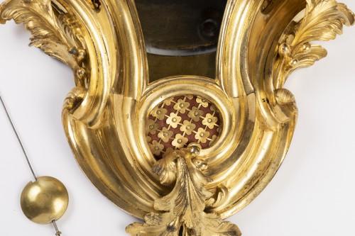 Gilded bronze clock Louis XV period mid 18th -